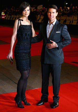 Men who wear stack heels: Tom Cruise and Katie Holmes