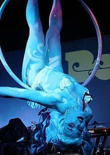 Burlesque night at the Proud gallery, Camden