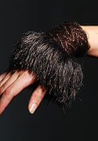 Knitted cuff by Rosalind Price-Cousins