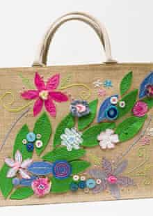 Perri's embroidered shopping bag