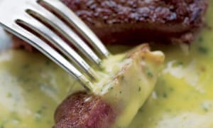 Hugh Fearnley-Whittingstall's recipe for steak with bearaise sauce