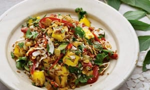 Yotam Ottolenghi's mango and coconut rice salad