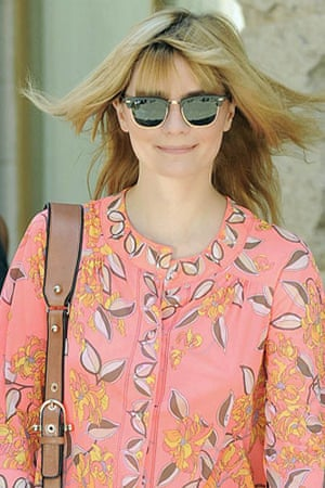 Sunglasses: Mischa Barton wears the Ray-Ban Clubmasters in June 2008