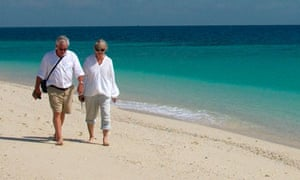 A dating guide for the over   s   Life and style   The Guardian The Guardian An elderly couple walk along a beach