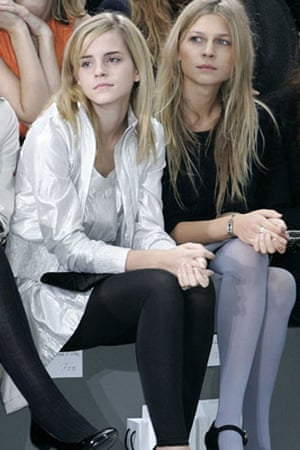 Emma Watson: Emma Watson at the Chanel by Karl Lagerfeld show October 2008