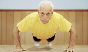 Older man exercising