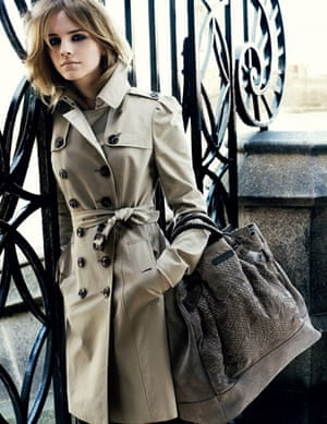 Emma Watson: Emma Watson modelling Burberry Autumn Winter 2009