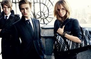 Emma Watson: Emma Watson models for Burberry