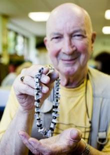 John North-East with his handmade jewellery