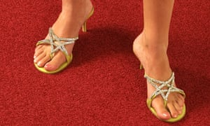 Jimmy Choo shoes on red carpet