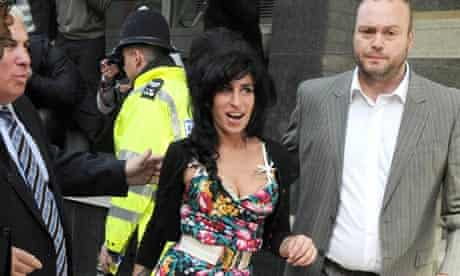 Amy Winehouse leaves a London court