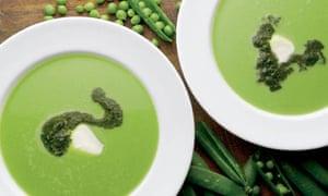 Yotam Ottolenghi's pea and leak soup