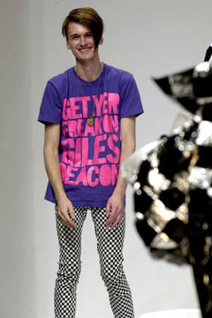 Slogan T-shirts: Gareth Pugh sporting Henry Holland's design