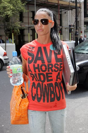 Slogan T-shirts: Katie Price