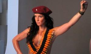 Lydia Guevara poses for Peta