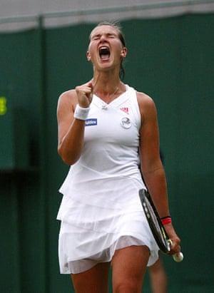 Wimbledon fashion: Georgie Stoop at the 2009 Wimbledon Championships
