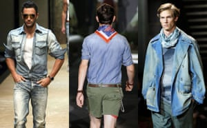 Menswear trends: Denim from D&G, Dsquared2 and Missoni