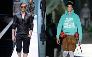 Menswear trends: Combat shorts from Dolce and Gabbana and Dsquared2