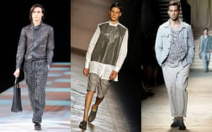Menswear trends: Roomier trousers and cuffs from Armani, Neil Barrett and Missoni,