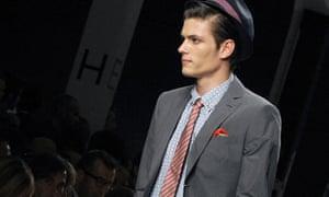 A model wears Moschino