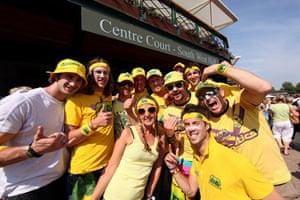 Wimbledon fashion: Lleyton Hewitt fans