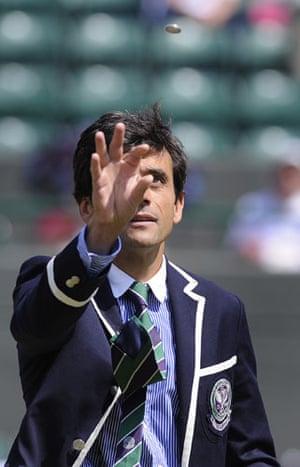 Wimbledon fashion: Tennis umpire