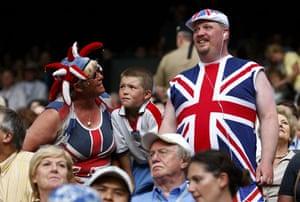 Wimbledon fashion: Union flag-clad spectators