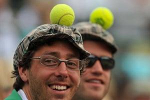 Wimbledon fashion: Tennis ball hats