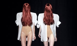 Models present creations by Martin Margiela