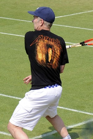 Wimbledon fashion: John McEnroe in a Metallica T-shirt