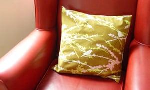 Sally Cameron Griffiths' hand made cushion