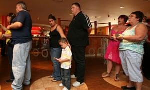 Customers queue for a table at Taybarns
