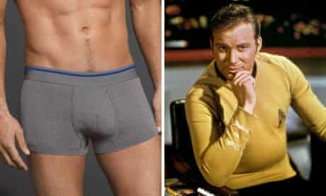 Equmen control pants and William Shatner as Captain Kirk