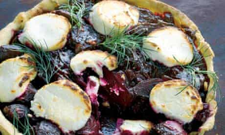 Hugh Fearnley-Whittingstall's beetroot and goats cheese tart