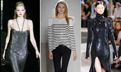 Three shiny looks from Gucci, Balmain and Givenchy