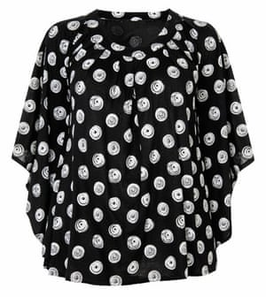 Beth Ditto for Evans: Polka dot swirl top