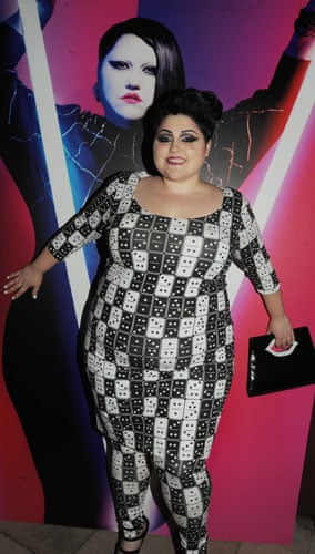 Beth Ditto for Evans: Domino print dress