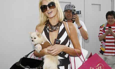 Paris Hilton and dog