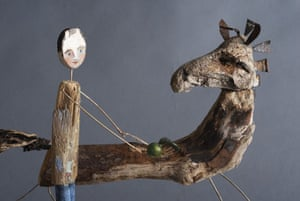 Orchard exhibition: Man with horse