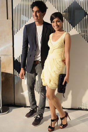 Burberry: Freida Pinto and Dev Patel at the Burberry afterparty