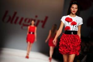 Milan Thursday shows: Models wear Blugirl