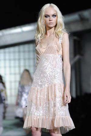 Milan Thursday shows: A model wears Just Cavalli