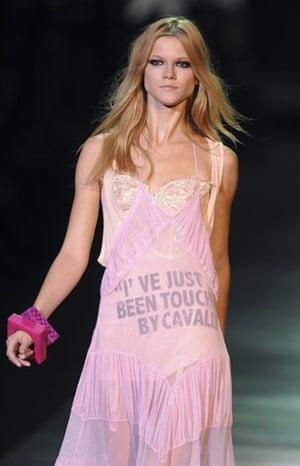 Milan Thursday shows: A model wears Just Cavalli Spring/Summer 2010