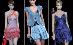 Milan Thursday shows: Models wear Giorgio Armani