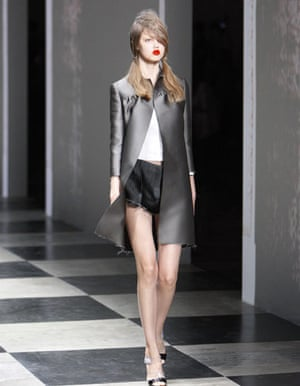 MFW Thursday shows: A model wears Prada