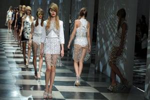 MFW Thursday shows: Models wear Prada