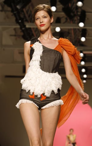 MFW Thursday shows: A model wears Moschino Cheap and Chic