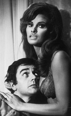 Short men: Dudley Moore and Raquel Welch in Bedazzled, 1967