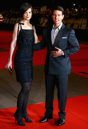 Short men: Tom Cruise and Katie Holmes at Valkyrie premier