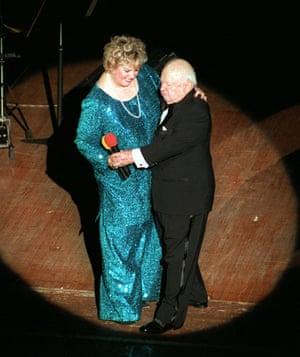 Short men: Mickey Rooney dancing with his wife